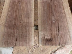 New dowel in place.  Note the bark is visible.