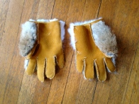 Gloves - inside out - fronts